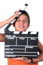 Movie-making-Boy-and-clappe